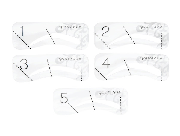 photograph about Eyebrow Template Printable called 4personal computers Do it yourself Eyebrow Stencils Deliver Up Forehead Enhancers Template