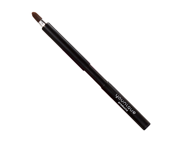 Brush on color with a retractable, fine-tipped lip brush